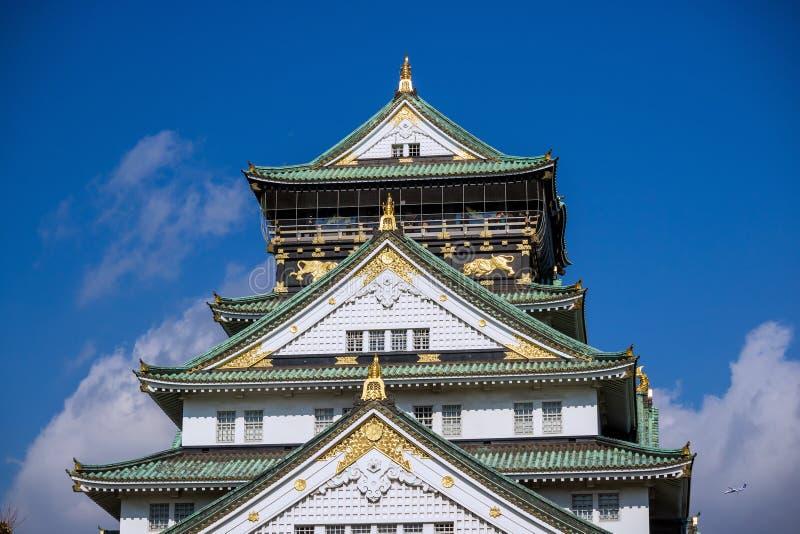 Osaka Castle con el cielo azul fotos de archivo libres de regalías