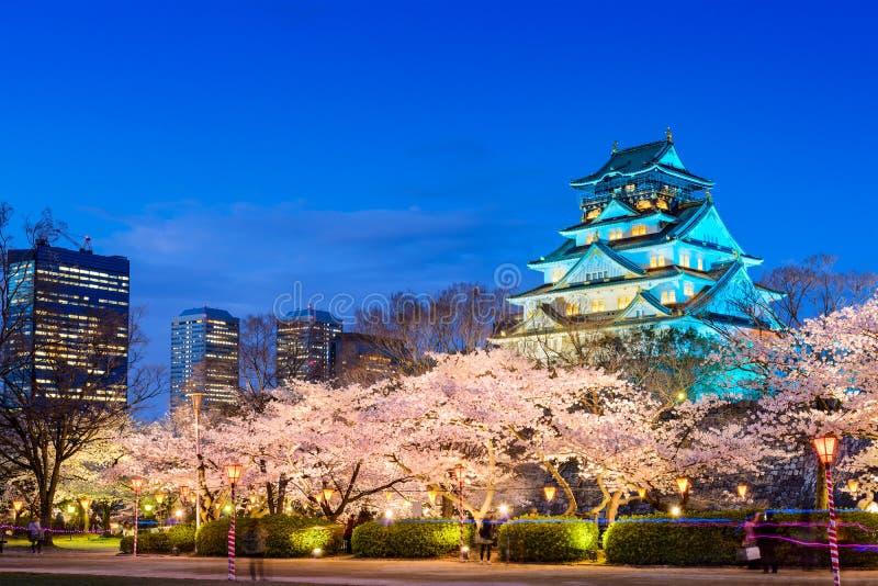 Osaka Castle in de Lente stock foto's