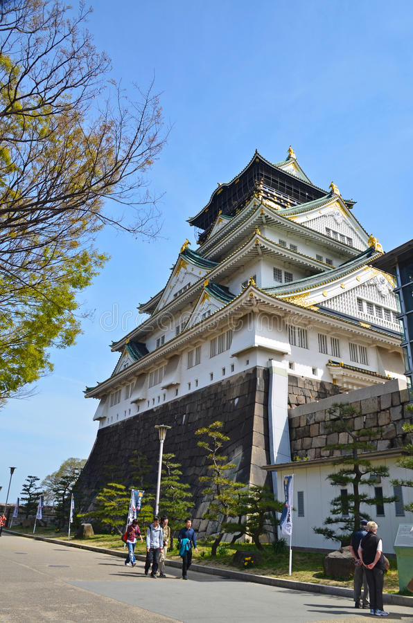 Osaka Castle en Japón fotos de archivo