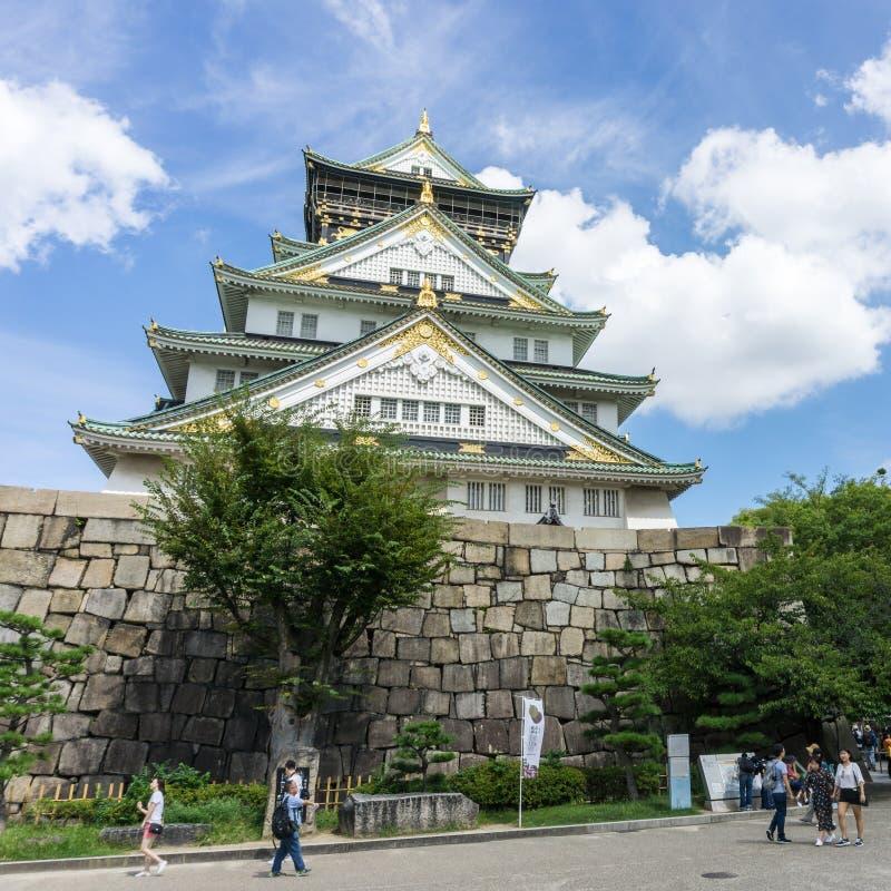 Osaka Castle en Osaka Japan images libres de droits