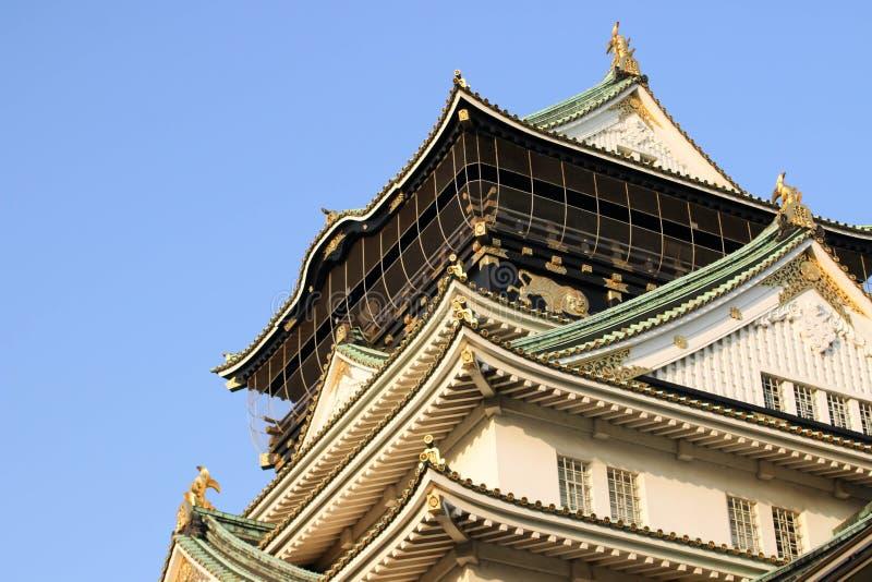 Osaka Castle es un castillo japonés en Osaka, Japón imagen de archivo libre de regalías