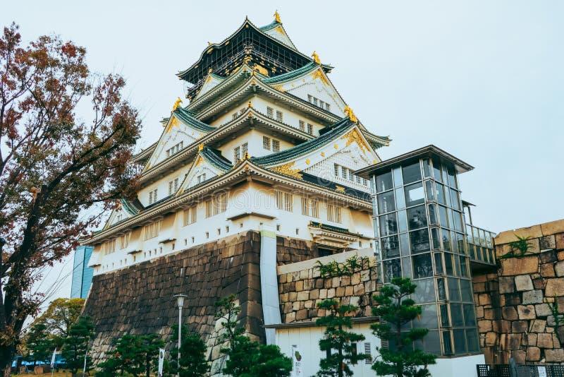 Osaka Castle i höstsäsong, en av den mest berömda gränsmärket arkivfoton