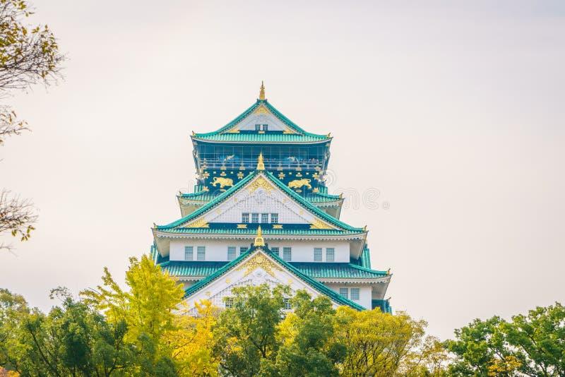 Osaka Castle i Osaka royaltyfria foton