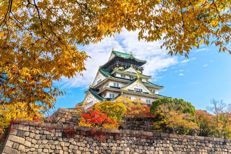Osaka Castle i Osaka, Japan royaltyfri foto