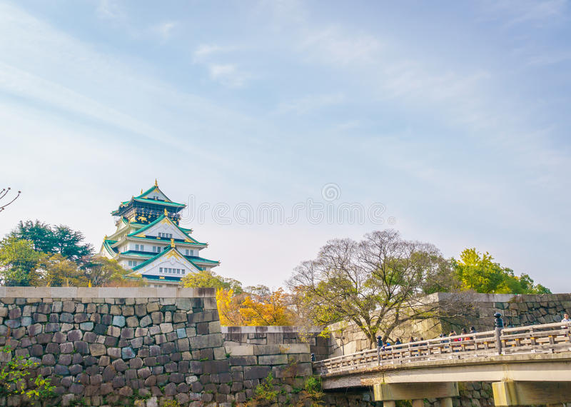 Osaka Castle i Osaka Japan fotografering för bildbyråer