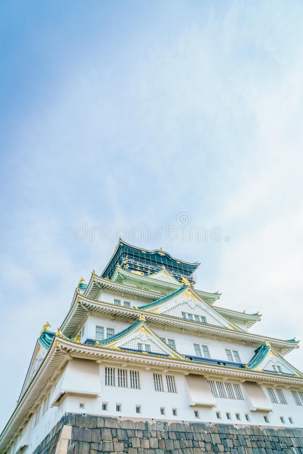 Osaka Castle i Osaka Japan royaltyfri fotografi