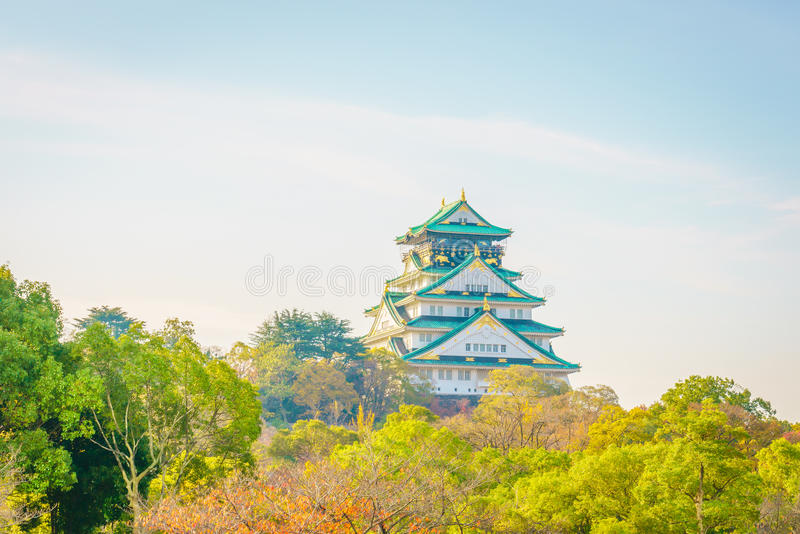 Osaka Castle i Osaka Japan royaltyfri foto