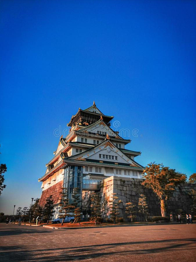 Osaka Castle kan 2019 royalty-vrije stock foto