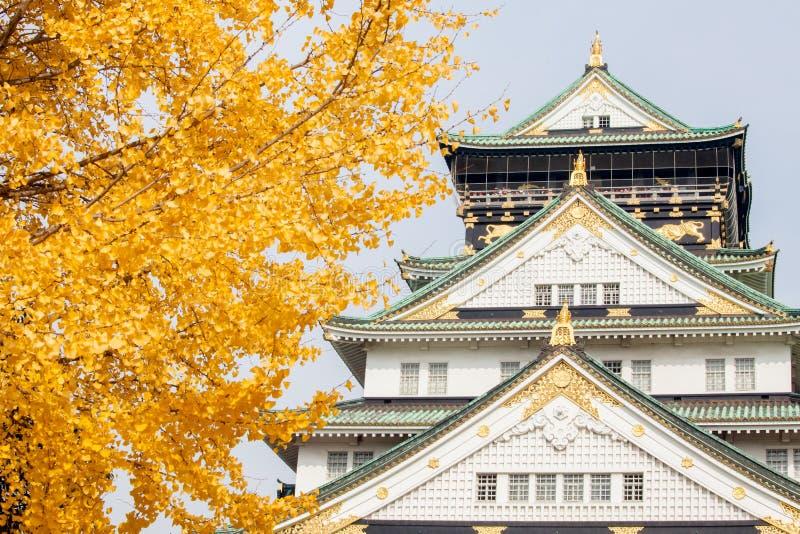 Osaka Castle met in Japan royalty-vrije stock afbeelding