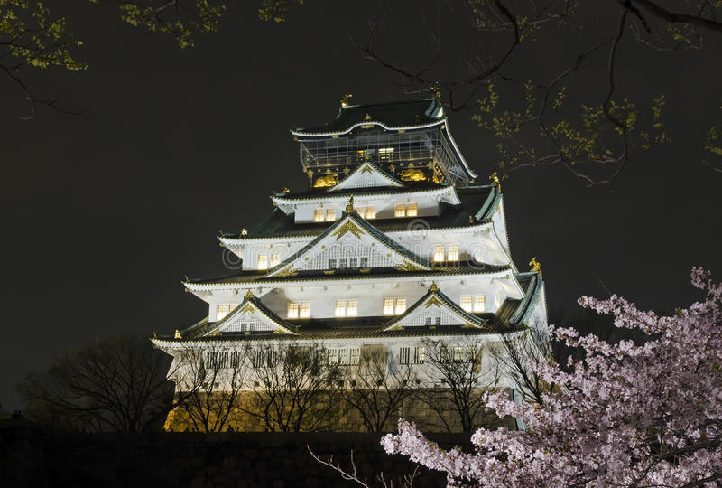 Osaka Castle Night View stock fotografie