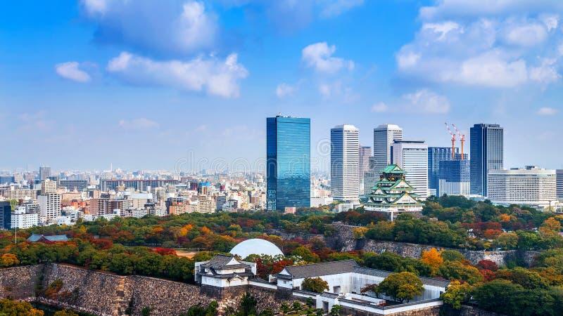 Osaka Castle in Osaka lizenzfreies stockbild