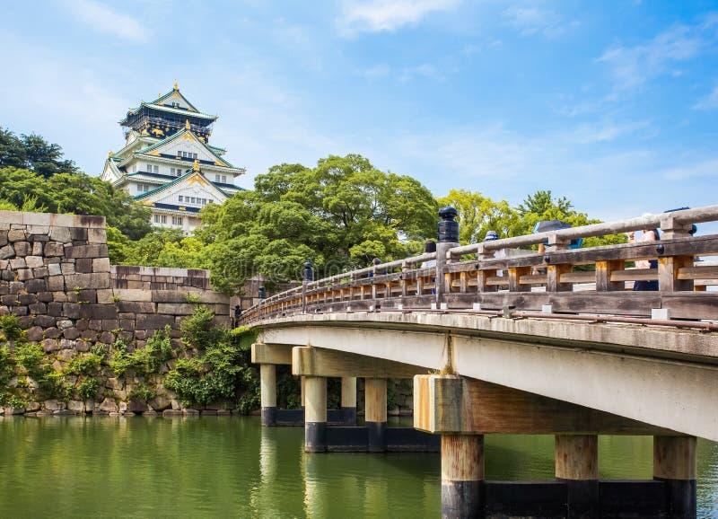 Osaka Castle in Osaka stock foto's