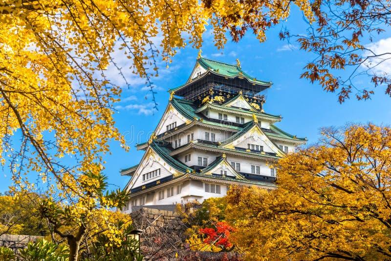 Osaka Castle a Osaka, Giappone fotografie stock libere da diritti