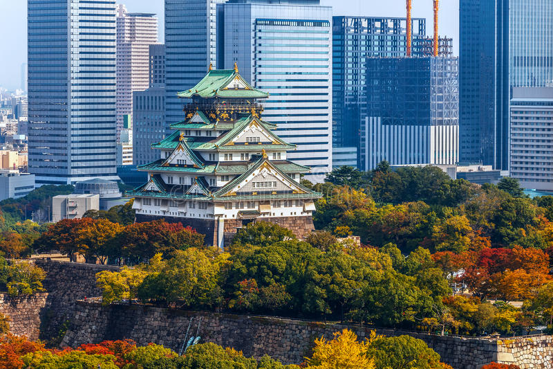 Osaka Castle in Osaka, Japan stock afbeelding
