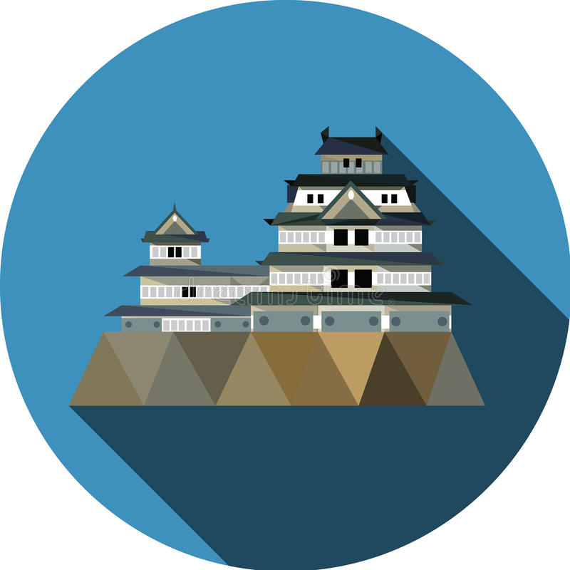 Osaka Castle in Osaka, Japan vector illustratie