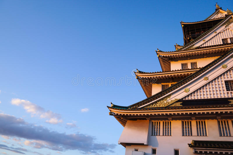 Osaka Castle in Osaka-Stadt, Kansai, Japan stockfotos