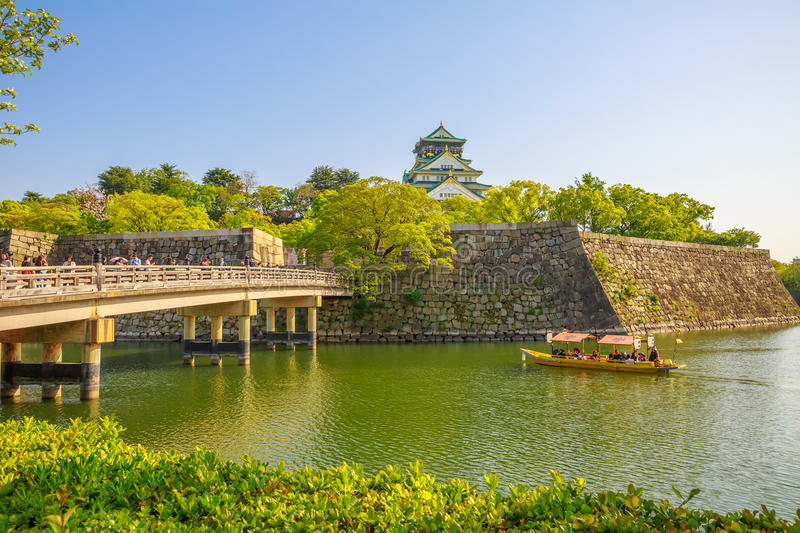 Osaka Castle-reisboot royalty-vrije stock fotografie