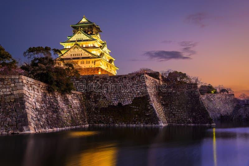 Osaka Castle. At sunset, Osaka, Japan royalty free stock photography