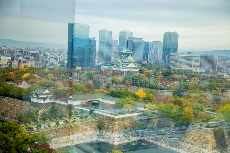 Osaka castle tower in Osaka City, japan stock photo