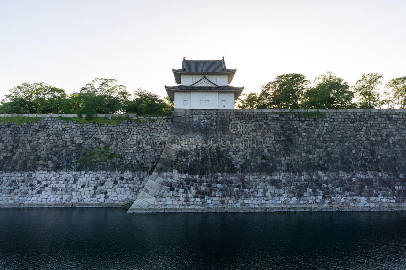 Osaka castle watch tower. Viewed during late afternoon during sunset hours. Taken in Osaka, Japan stock photos