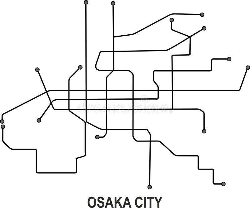 Osaka City översikt arkivbild