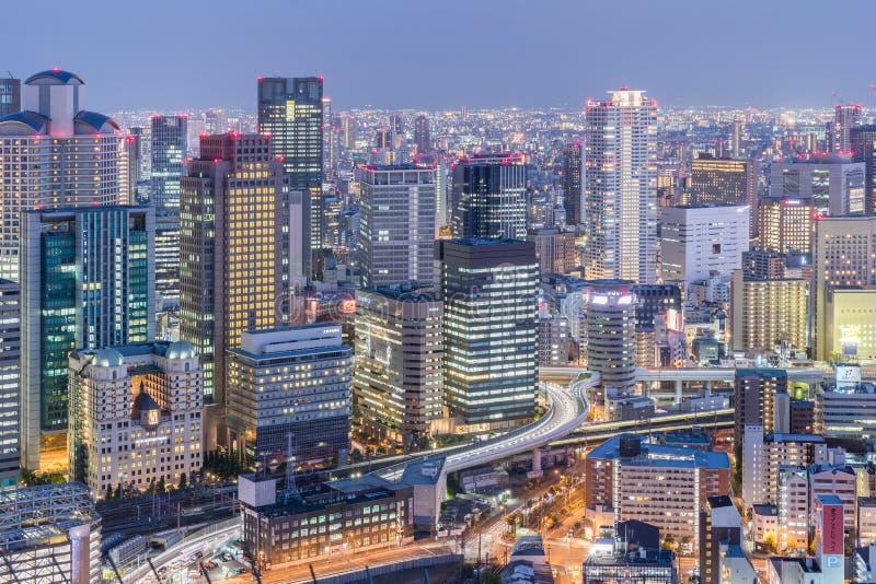 Osaka city view stock photos