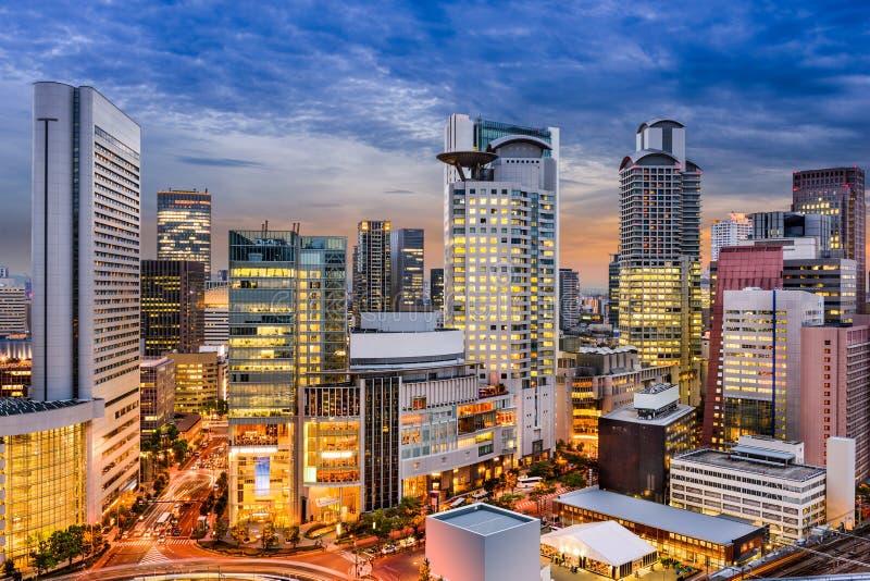 Osaka Cityscape royalty-vrije stock afbeeldingen
