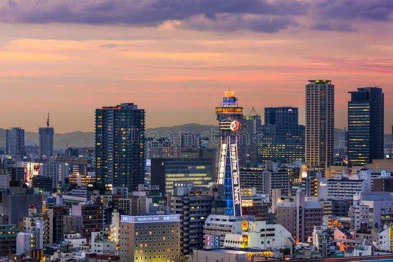 Osaka Cityscape foto de archivo