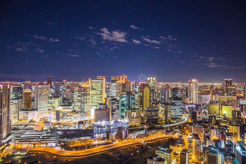 Osaka Cityscape arkivfoton