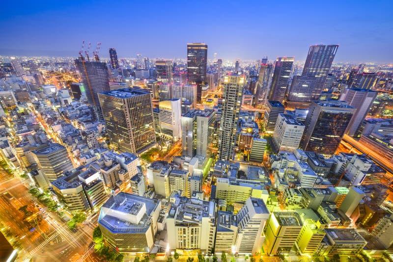 Osaka, Cityscape van Japan royalty-vrije stock foto's