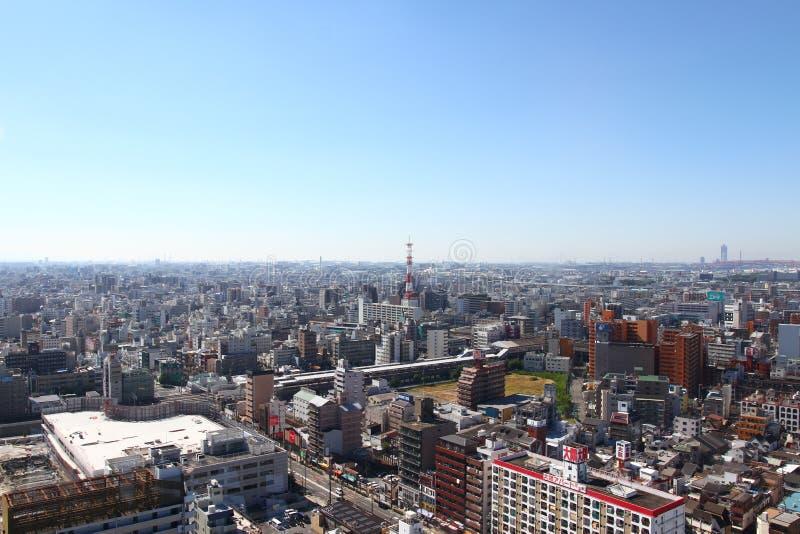 Osaka, Cityscape van Japan stock afbeeldingen