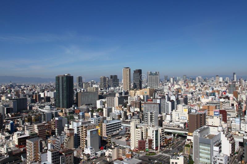 Osaka, Cityscape van Japan stock foto's