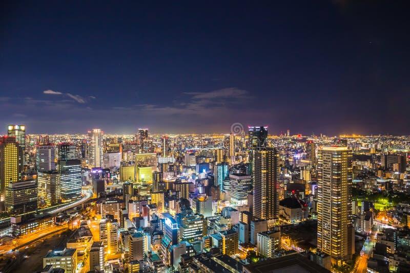 Osaka Cityscape stockfotos