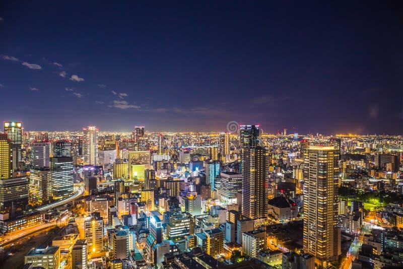 Osaka Cityscape stockbilder