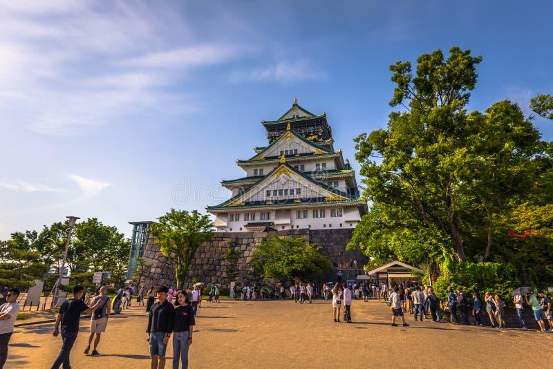 Osaka, Czerwiec - 01, 2019: Kasztel Osaka w Osaka, Japonia obraz stock