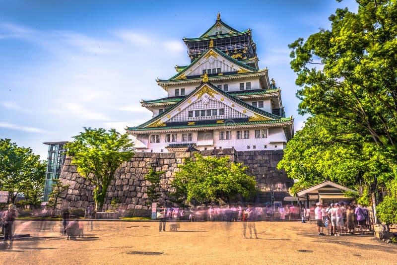 Osaka, Czerwiec - 01, 2019: Kasztel Osaka w Osaka, Japonia fotografia stock