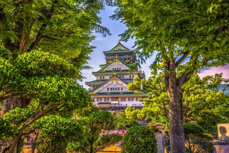 Osaka, Czerwiec - 01, 2019: Kasztel Osaka w Osaka, Japonia obraz royalty free
