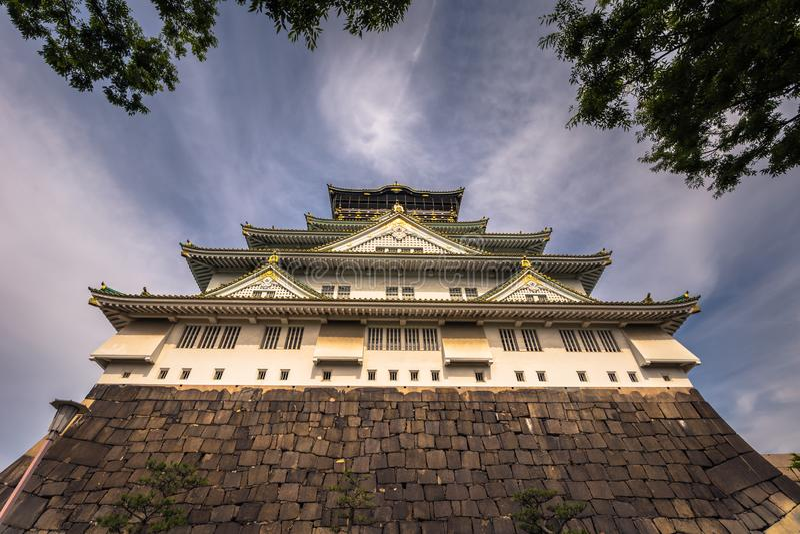 Osaka, Czerwiec - 01, 2019: Kasztel Osaka w Osaka, Japonia obrazy royalty free
