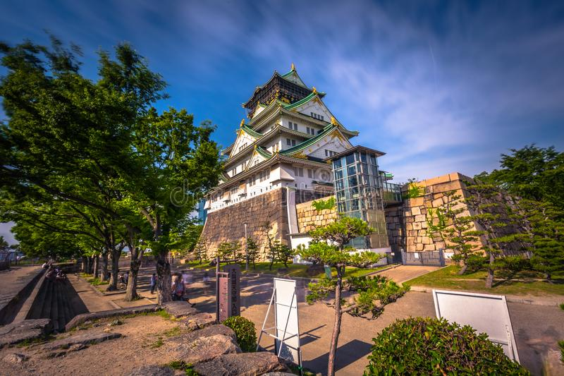 Osaka, Czerwiec - 01, 2019: Kasztel Osaka w Osaka, Japonia fotografia royalty free