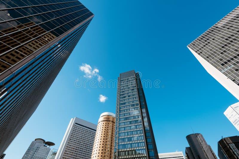 Osaka de stad in stock afbeelding