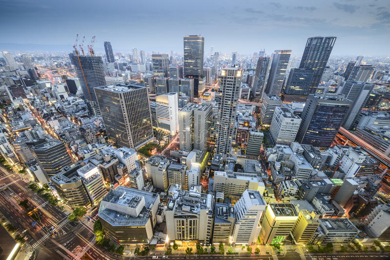 Osaka, Giappone immagine stock libera da diritti