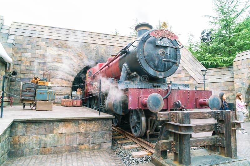 Osaka, Giappone - 21 novembre 2016: Il mondo di Wizarding di Harry Potter immagini stock