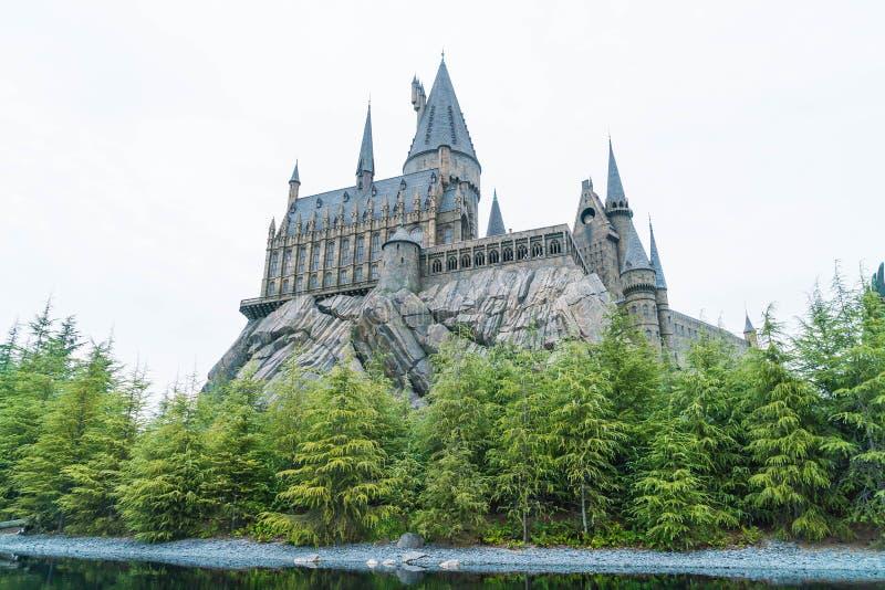 Osaka, Giappone - 21 novembre 2016: Il mondo di Wizarding di Harry Potter fotografia stock libera da diritti