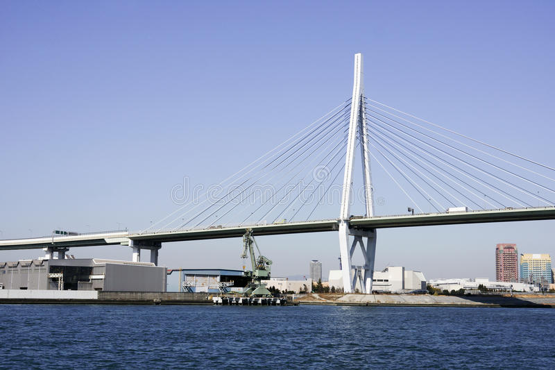Osaka Harbor Bridge stock afbeeldingen