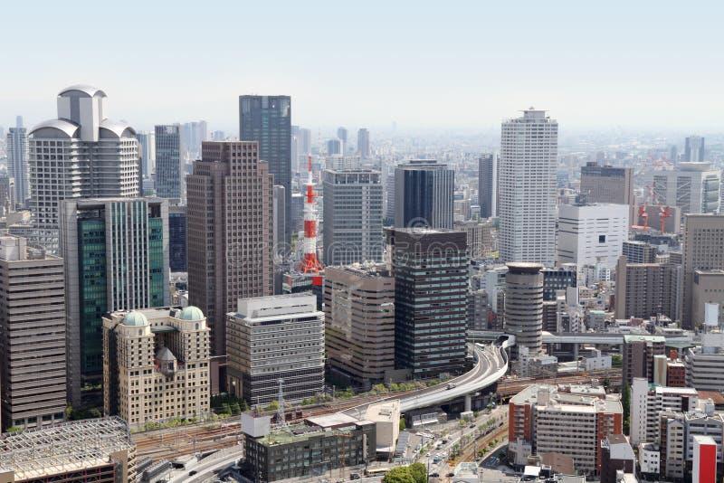 Osaka horisont, Japan arkivfoto