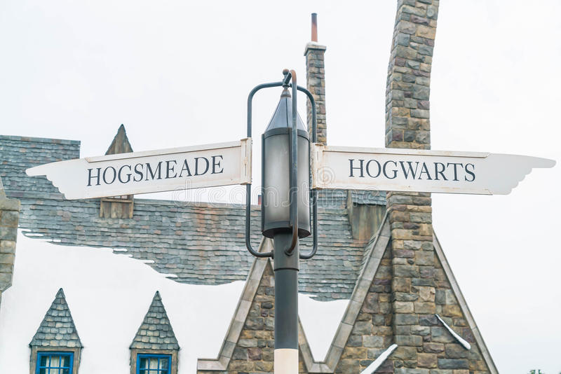 Osaka, Japón - 21 de noviembre de 2016: El mundo de Wizarding de Harry Potter imagen de archivo
