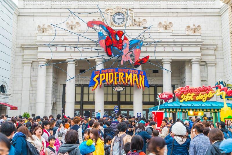 Osaka, Japón - 21 de noviembre de 2016: Paseo del hombre araña en el globo universal o imágenes de archivo libres de regalías