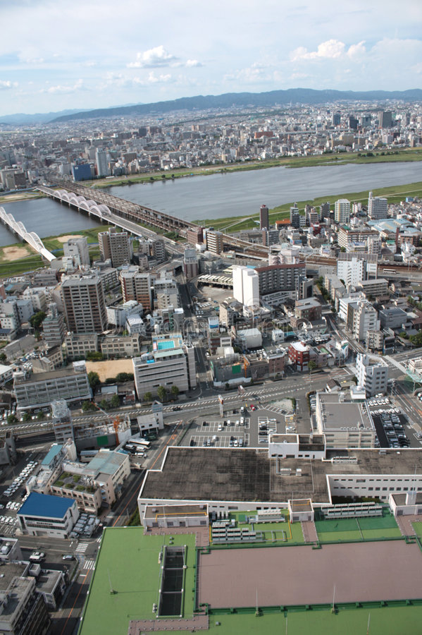 Download Osaka, Japan stock photo. Image of asia, aerial, above - 8607974