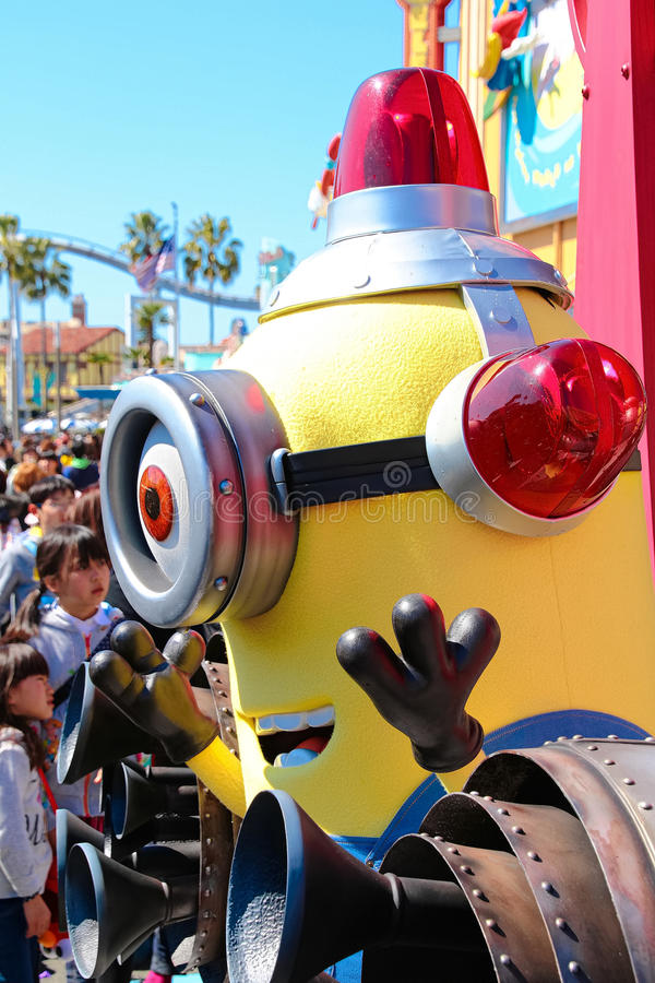 Minion Mascot. OSAKA, JAPAN - Apr 26 2017: Minion Mascot from Despicable Me in Universal Studios japan royalty free stock images