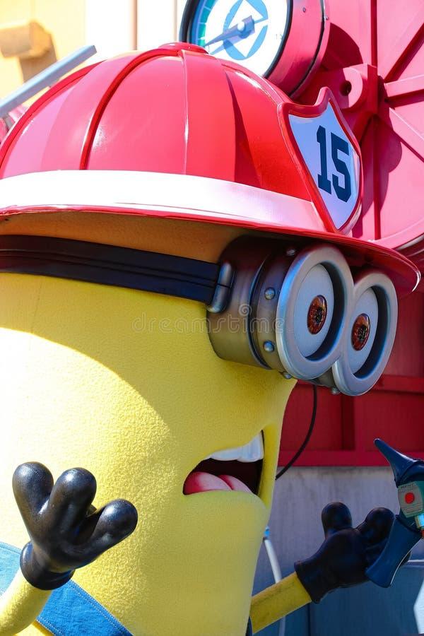 Minion Mascot. OSAKA, JAPAN - Apr 26 2017: Minion Mascot from Despicable Me in Universal Studios japan royalty free stock photos
